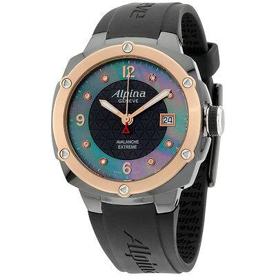 Alpina Avalanche Extreme Black Dial Silicone Strap Men's Watch AL240MPBD3FBAEC4
