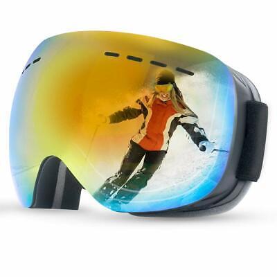 Ski Goggles for Women Men Ski Goggles Frameless Snowboard Goggles Double Lens