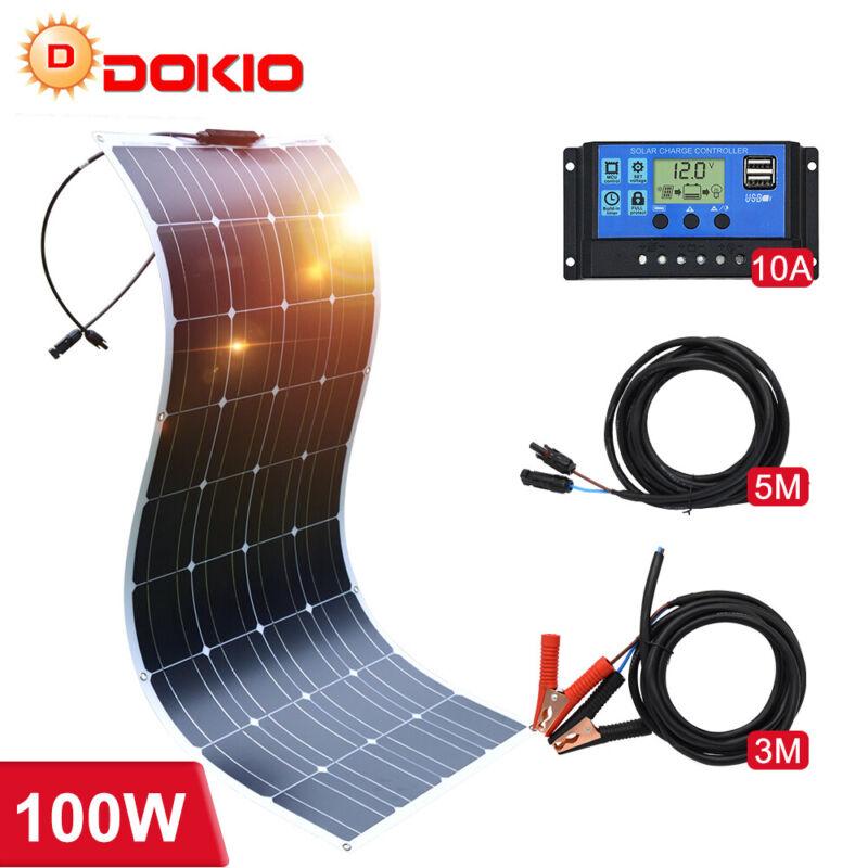 12v 100w 200w Semil-flexible Monocrystalline Solar Panel Kit for RV/Car/Home