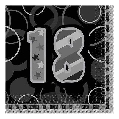 16 Happy 18th Birthday Black Sparkle 6.5