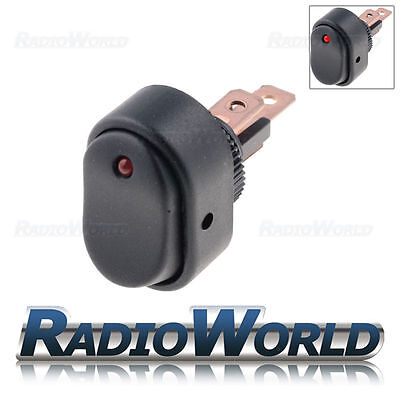 12v 30a ON/OFF Red Illuminated Black Oval Rocker Switch /Car dash / light /Boat