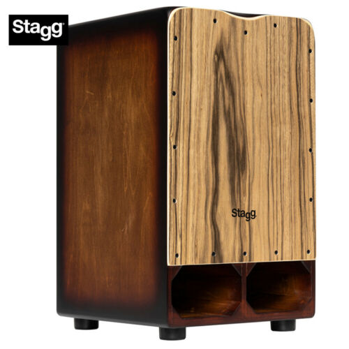NEW Stagg Cannon Cajon Ebony Finish with Extra Bass Punch CAJ-CANNON-EB