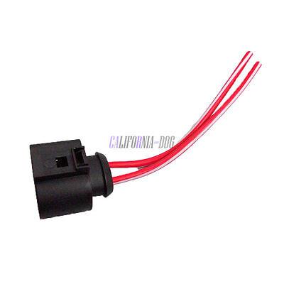 New  2 Pin Plug Connector Loom Wiring Socket 1J0973752 For VW AUDI 1J0 973 752