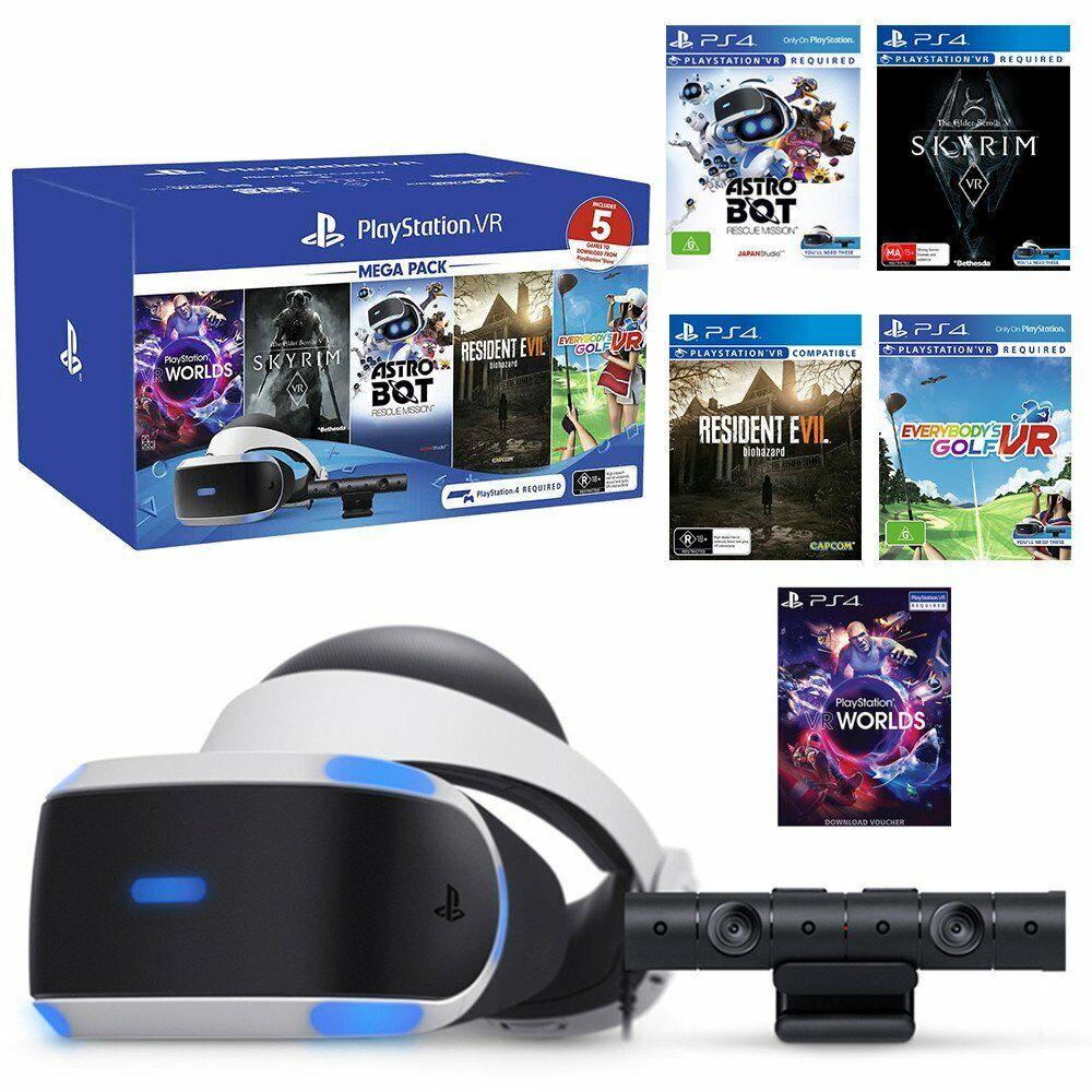 No Games PS4 PSVR FREE Shipping! Sony PlayStation VR Bundle Headset /& Camera