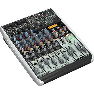 BEHRINGER XENYX QX1204 USB Mixer Professionale x Dj Studio NUOVO garanzia ITA usato  Italia