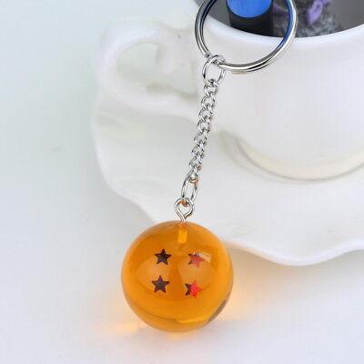 - Dragon Ball Z DBZ 4 Star Crystal Ball Keychain Keyring Super Saiyan Vegeta GOKU