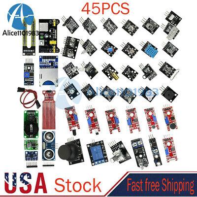 45pcs Sensor Kit Learning Kit Sensors Modules For Arduino R3 Raspberry Pi Mcu Us