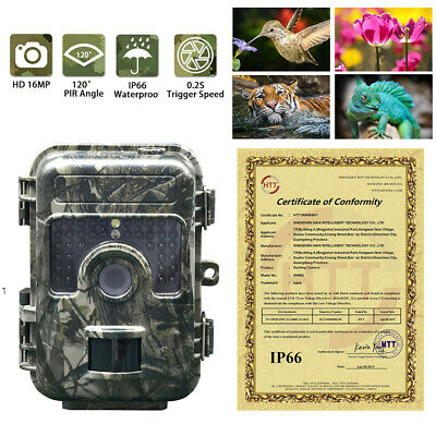 1080P 16MP Hunting Trail Camera HD Wildlife Scouting Night Vision Motion Sensor