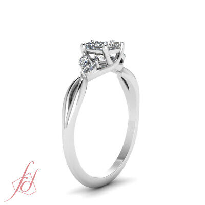 3/4 Carat Princess Cut Diamond Twisted Engagement Rings For Women GIA Certified 2