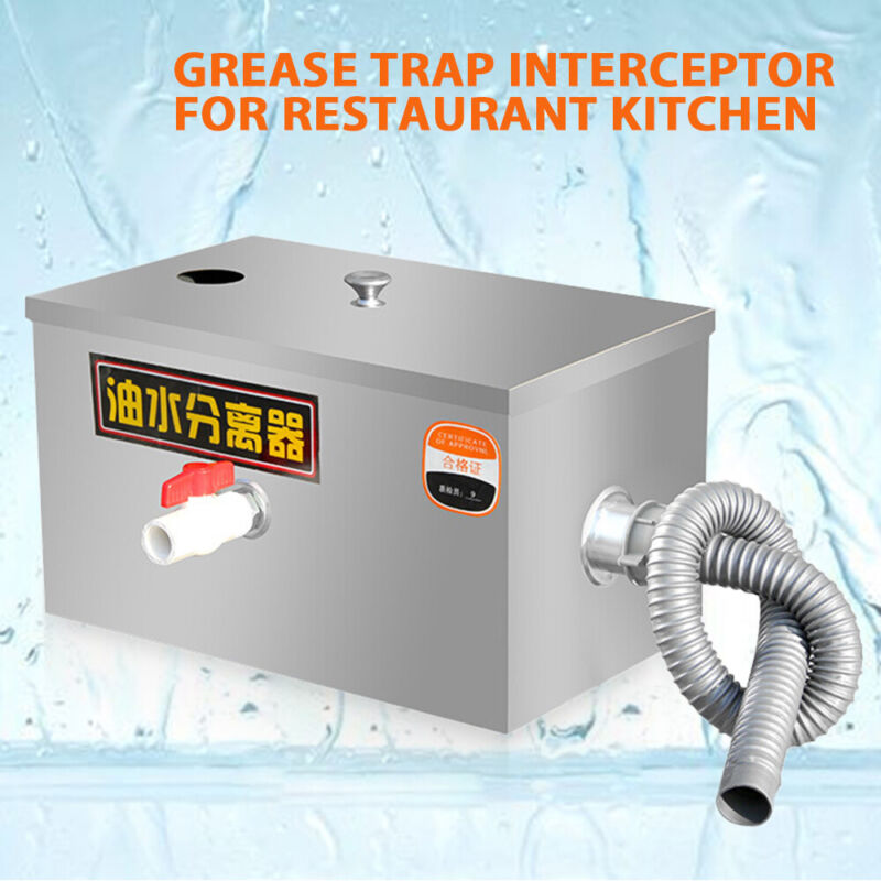 High Quality Stainless Steel Grease Trap Interceptor for Kitchen Wastewater US