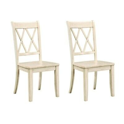 Set of 2 Homelegance X Back Wood Dining Chair, White