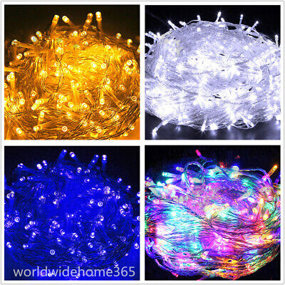 100-1000 LED String Fairy Lights Christmas Tree Party Xmas Outdoor Decoration US ()
