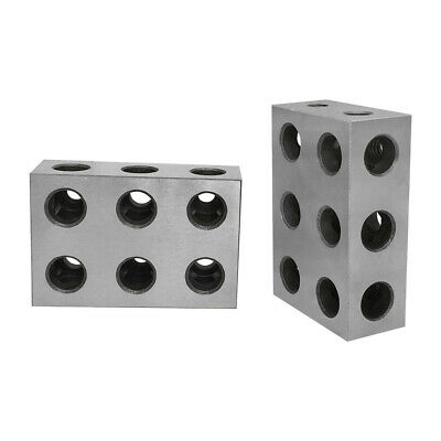 1 Pair Of 1-2-3 Universal Blocks 11 Holes Milling Drilling Precision