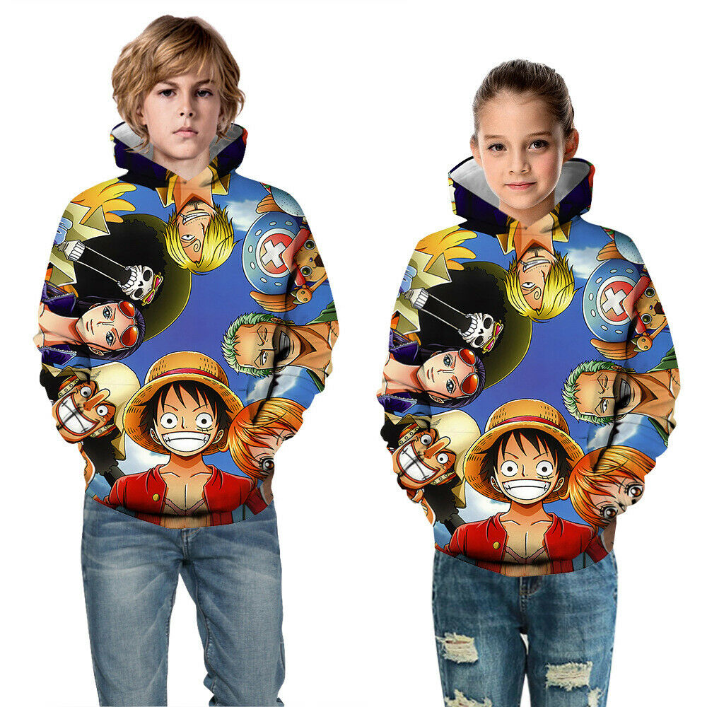Uzumaki Naruto Kakashi Childrens Novelty Long Sleeve Pullover Hoodie Camouflage Pocket Sweatshirt for Boys//Girls//Teen//Kids