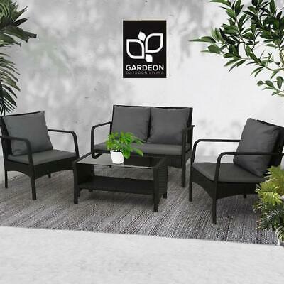 Garden Furniture - Gardeon Outdoor Furniture Lounge Table Chairs Garden Patio Wicker Sofa Set
