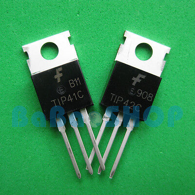 10pcs 200pcs Tip41c Tip42c Tip41 Tip42 Npn Pnp Transistor 6a 100v Fsc To-220
