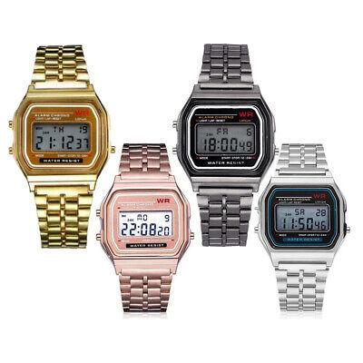 BEST Fashion Men Women LED Digital Watch Silver Vintage Sport Unisex