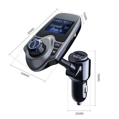 FM Transmitter Wireless Bluetooth 4.0  Radio MP3 Adapter Car Kit USB Charger