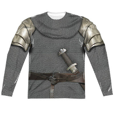 MEDIEVAL KNIGHT ARMOR 2-Sided Men's L/S T-Shirt Easy Halloween Costume S-3XL