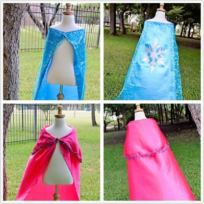 Girls Womens Elsa costume Cape Cloak Princess Anna party dresses cosplay](Elsa Costume Womens)