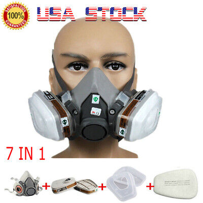 Usa Safety Painting Spraying For 3m 6200 N95 Half Face Dust Gas Mask Respirator