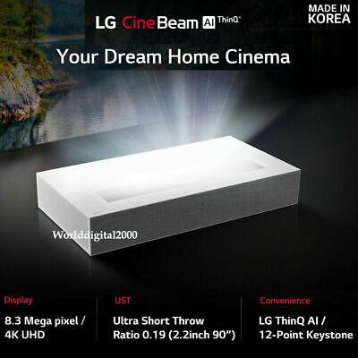 LG HU85LA Ultra Short Throw 4K UHD Laser Smart Home Theater CineBeam Projector