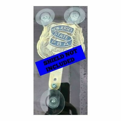 Pba Police Emt Fam Dea Fop Shield Holder With Suction Cups First Responder