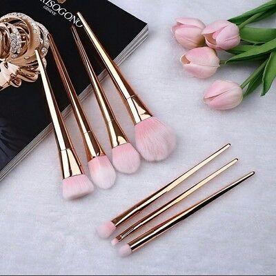 7PCS Kabuki Makeup Brush Set Powder Eyeshadow Face Countour Foundation Brushes
