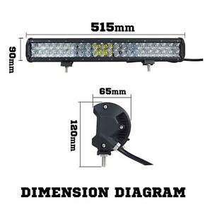 Osram 20inch 294W 5D Lens LED Light Bar Flood Spot Combo Work Lam Silverwater Auburn Area Preview
