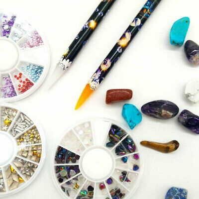 Gem Crystal Rhinestones Picker Wax Pencil Nail Art Craft Tool Wax Pen-Pack of 2 Health & Beauty