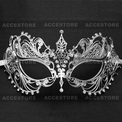 Sexy Rhinestones Masquerade Mask Women Laser Cut Princess Mask Mardi Gras Party