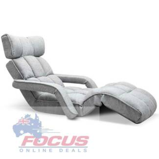 Adjustable Lounger with Arms - Grey, Black or Charcoal