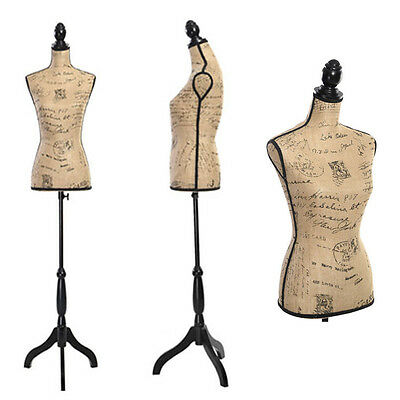 Female Mannequin Torso Clothing Display Dress W/ Black Tripod Stand Styrofoam