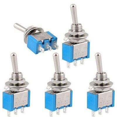 Latching On-on Mini 5pcs 3 Pins Spdt 2 Position Toggle Switch