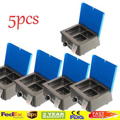 5x Dental 3 Well Analog Wax Melting Dipping Pot Heater Melter Lab Machine