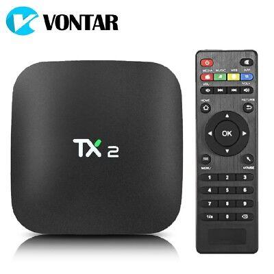 TX2 Mini 2GB+16GB Smart Android TV Box 4K KD 17 HD Media Player WIFI AV UK Plug