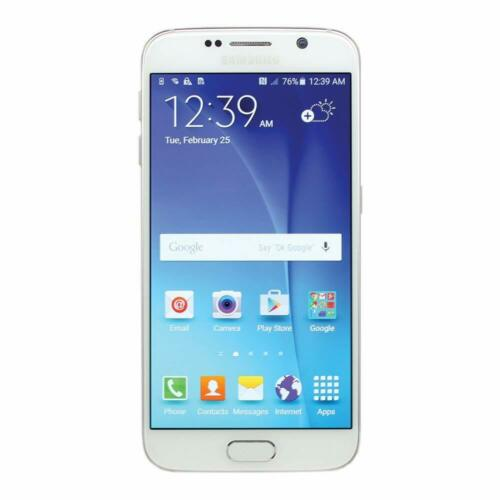 Samsung Galaxy S6 4G LTE with 32GB Memory Cell Phone White Pearl (Verizon Wireless) SMG920VZWA