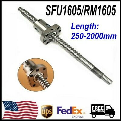 L250-2000mm Ball Screw Ballnut Rmsfu1605 Ballscrew W Single Ballnut For Cnc Us
