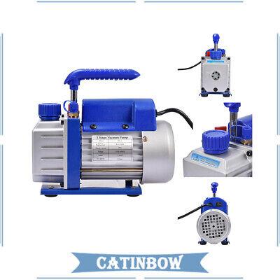 4 Cfm Vacuum Pump Rotary Vane 14hp Hvac Ac Refrigerant Air Conditioning R134a