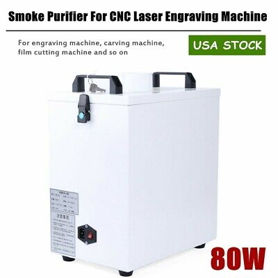 Smoke Purifier For Engraving Carving Film Cutting Machine 110v 80w Double Hole