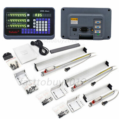 4 12 20 Ttl Linear Scale Encoder3 Axis Digital Readout Dro Milling Lathe Set