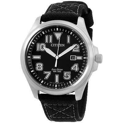 Citizen Eco-Drive 44 mm Stainless Steel Sport Black Dial Men's Watch AW1410-08E