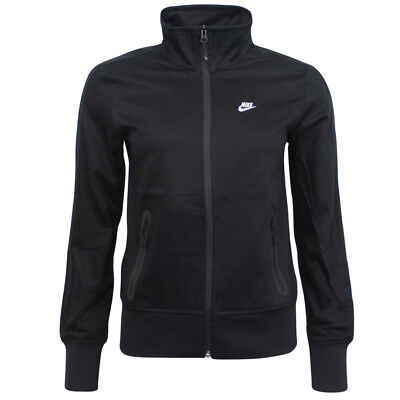 Nike Womens Zip Up Football Fitness Training Jacket Black 452624 010 A92C