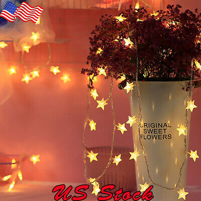 1M-6M / 10-40LEDs Battery USB Operated LED Star String Fairy Lights LED String (Star String Lights)