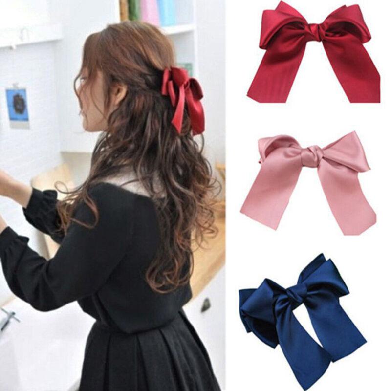 Ribbon Large  Accessories Headwear Satin Hair Band Big Bow Hairbands Hair Clip