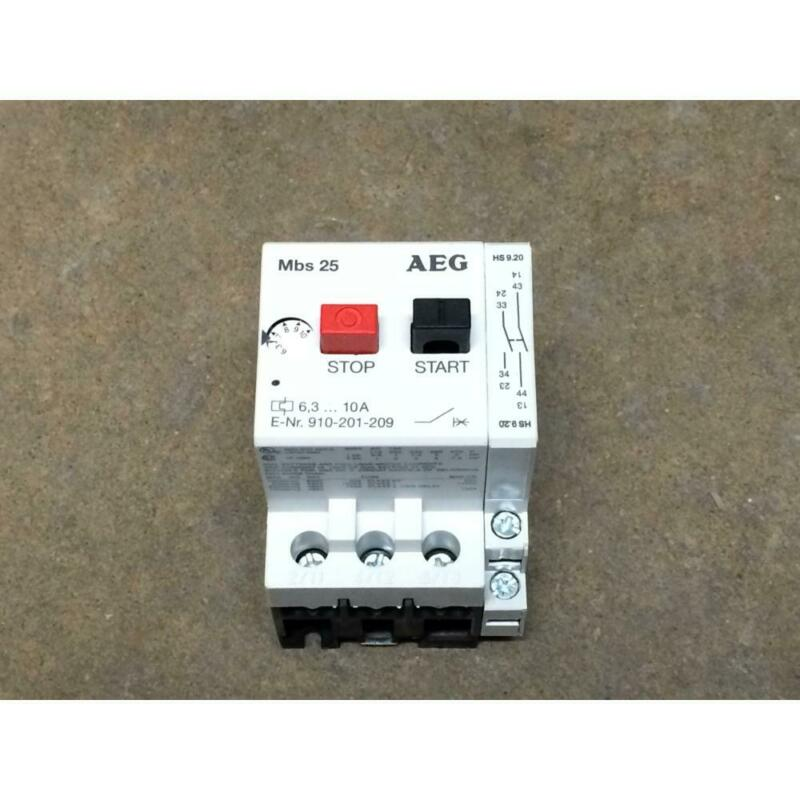 AEG 910-201-209 6-10A 3 POLE MANUAL MOTOR STARTER, 600V MAX
