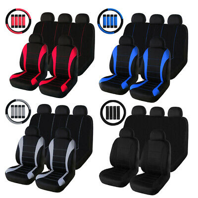 Front Rear Full Set Car Seat Covers Fit Most Car Truck Suv Van Universal Fit ()