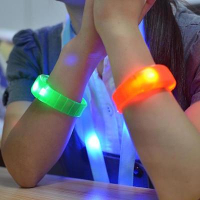 BANGLE BRACELET FLASH GLOW BAND LIGHT-UP EL LED MOTION SOUND ACTIVATED WRISTBAND - Light Up Wristband