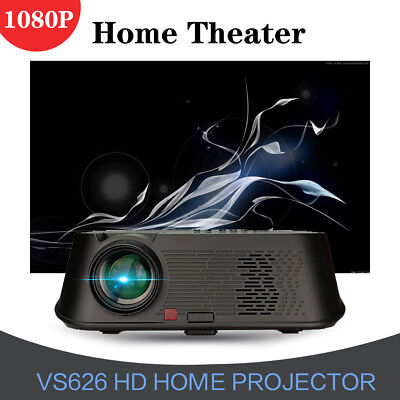 WIFI HD 1080P Multimedia Home Theater Projector 3D HDTV Movie Player LED USB VGA