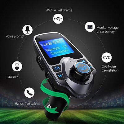 Bluetooth Wireless FM Transmitter Radio Adapter USB Charger Car Kits MP3 Player